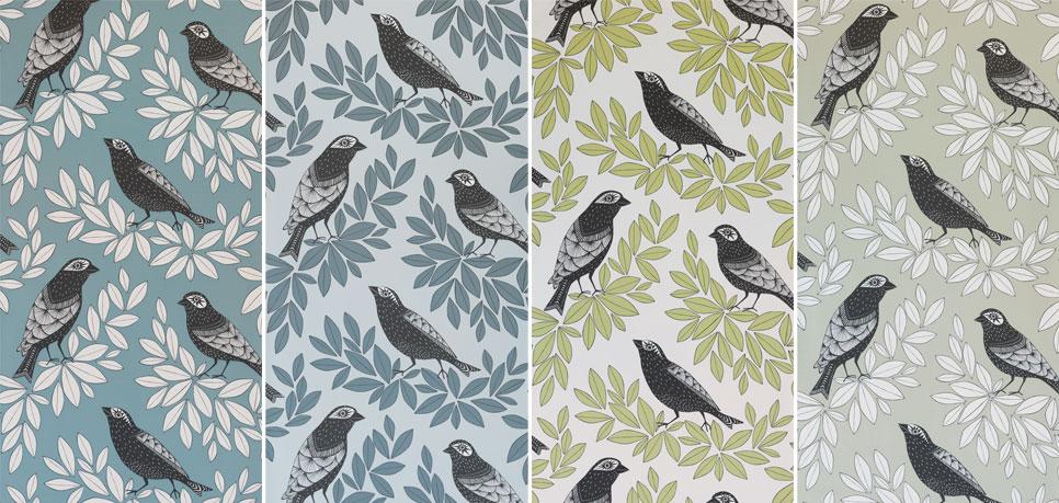 Fåglar-miss-print-djur-tapeter-midbec