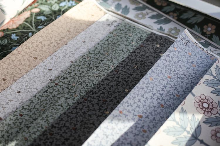 Hanna Wendelbo lyckebo clover designprocessen midbec tapeter