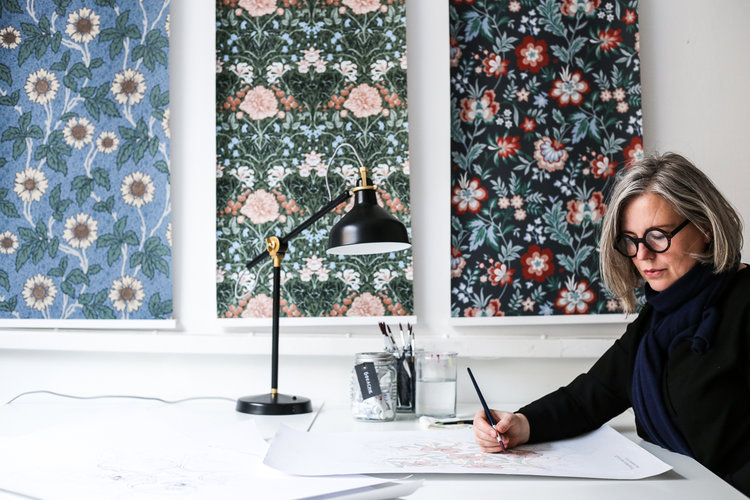 Hanna Wendelbo lyckebo designprocessen midbec tapeter