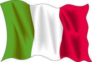 ITALIEN+FLAGGA fotboll