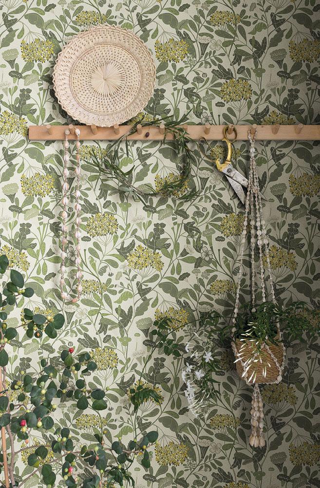 Klä väggarna i nyanser av grönt hall