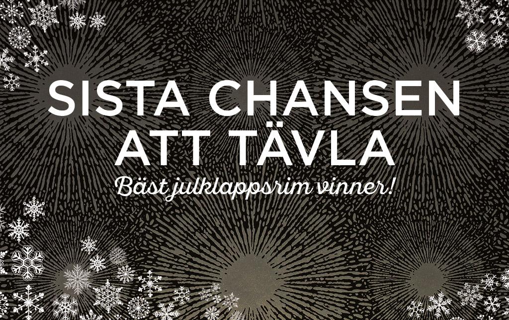 Midbec blogg advent jul tavling vinn vinnare 3000 kr