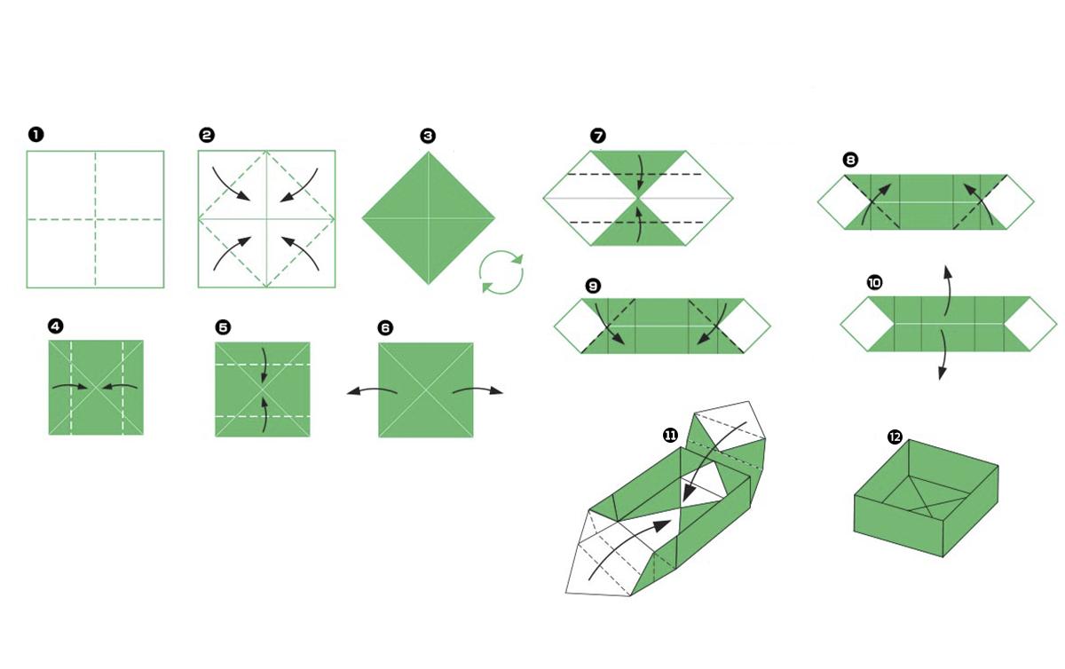 Pysssel midbec wallpaper tapet origami inspiration instruction instruktioner vika papper groda