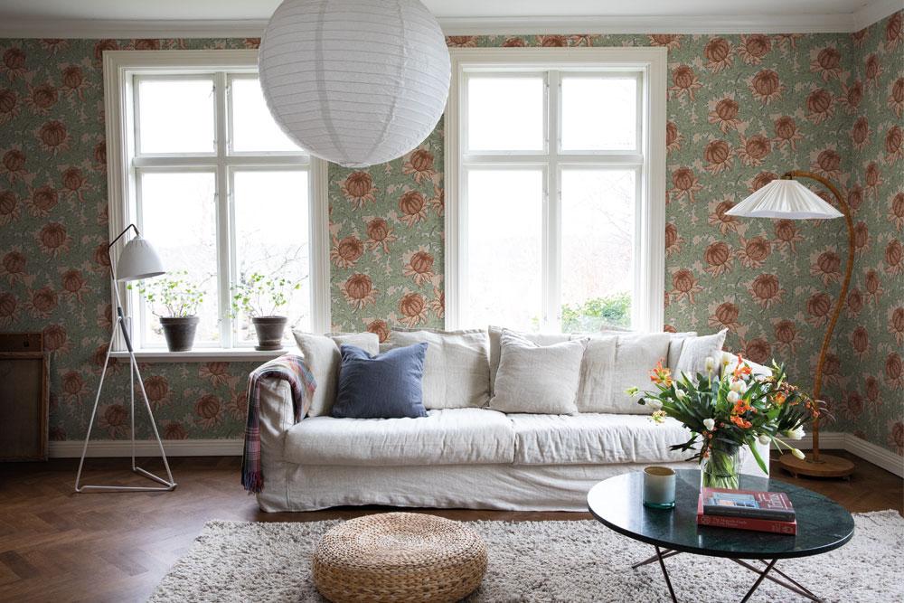Tapetsera dina väggar med blommor Havsblick