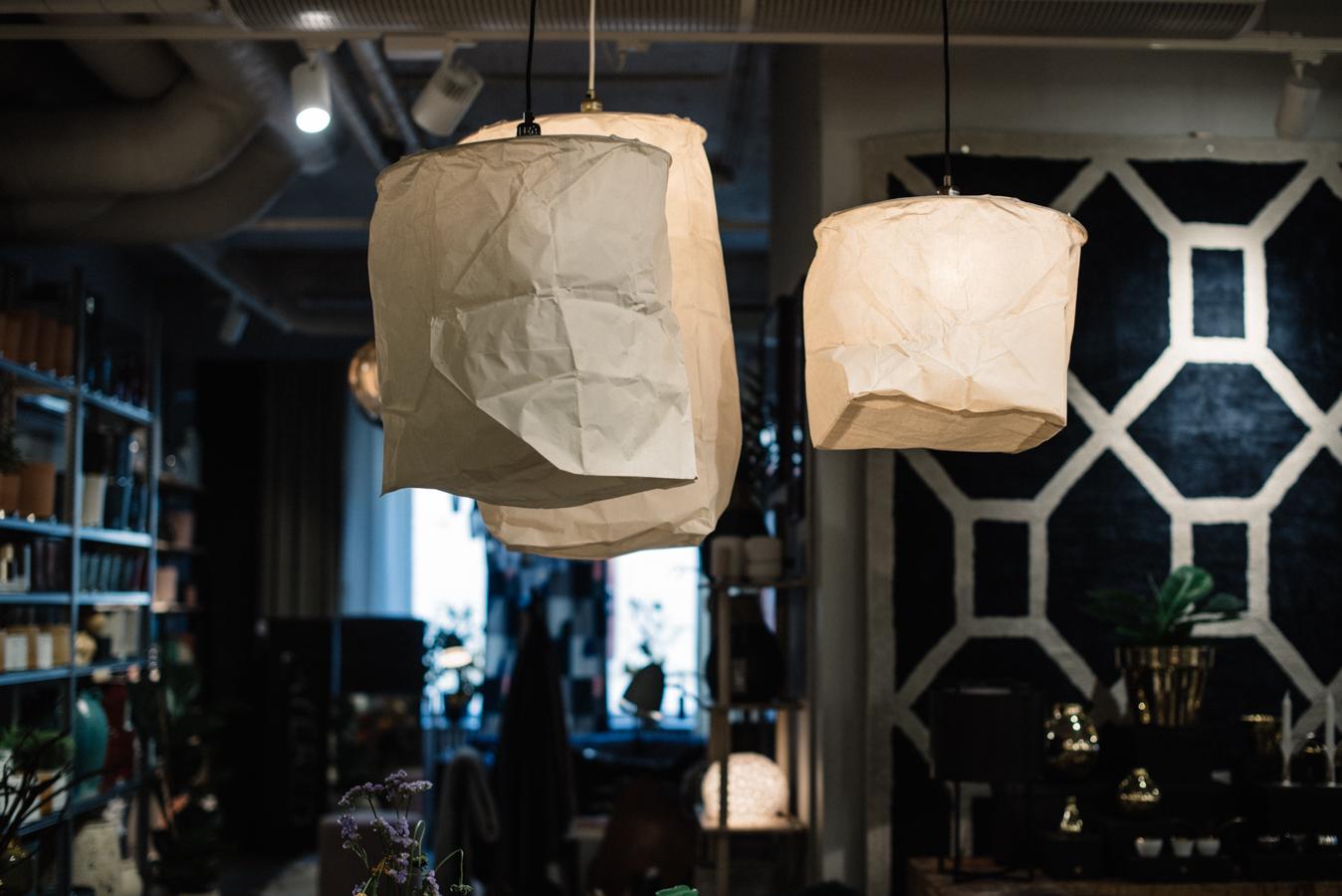 inspireras av belysning taklampa papper midbec tapeter