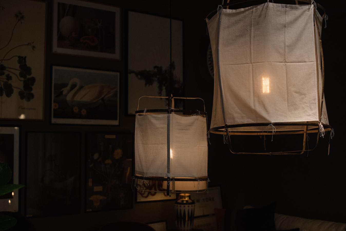 inspireras av belysning taklampa tyg midbec tapeter