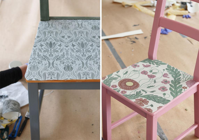 kreativa-karin-stolar-med-tapet-blomstermåla-midbec