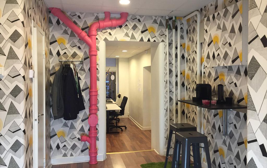 midbec tapetsera kok miss print wallpaper
