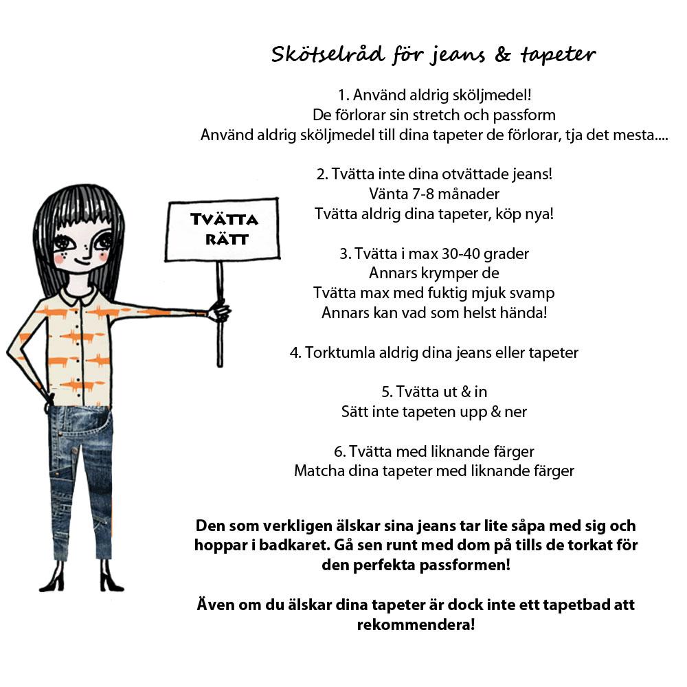 Skötselråd för jeans & tapeter