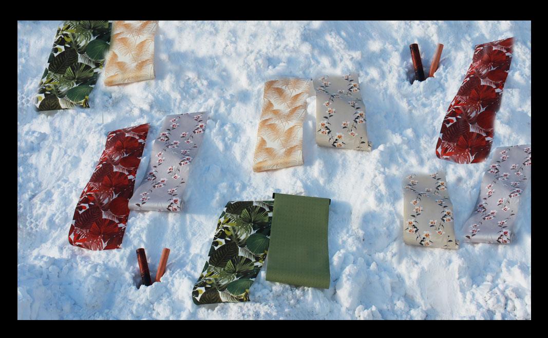 Tapeter i snön