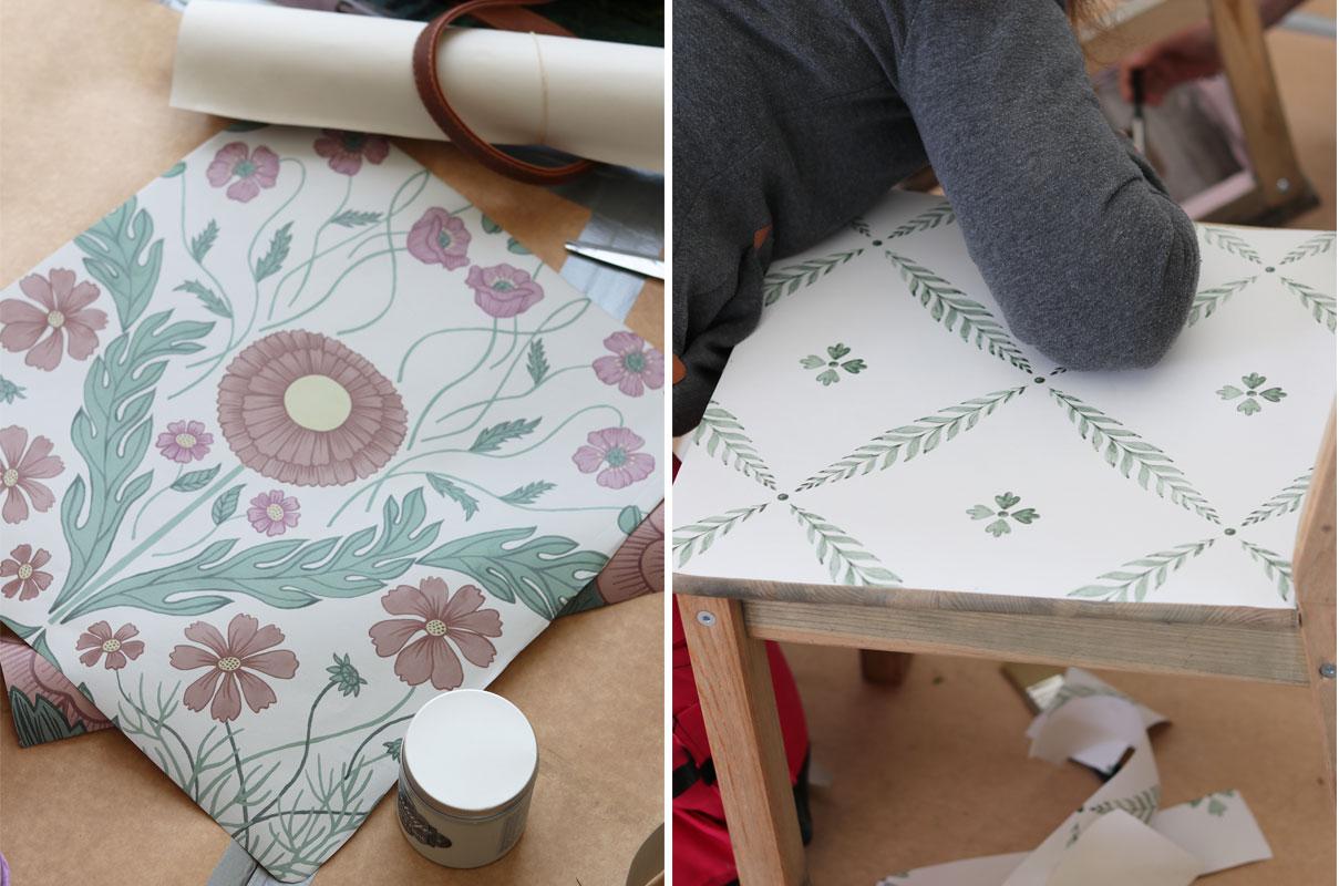 tapeter-blomstermåla-kreativa-karin-pyssel-midbec