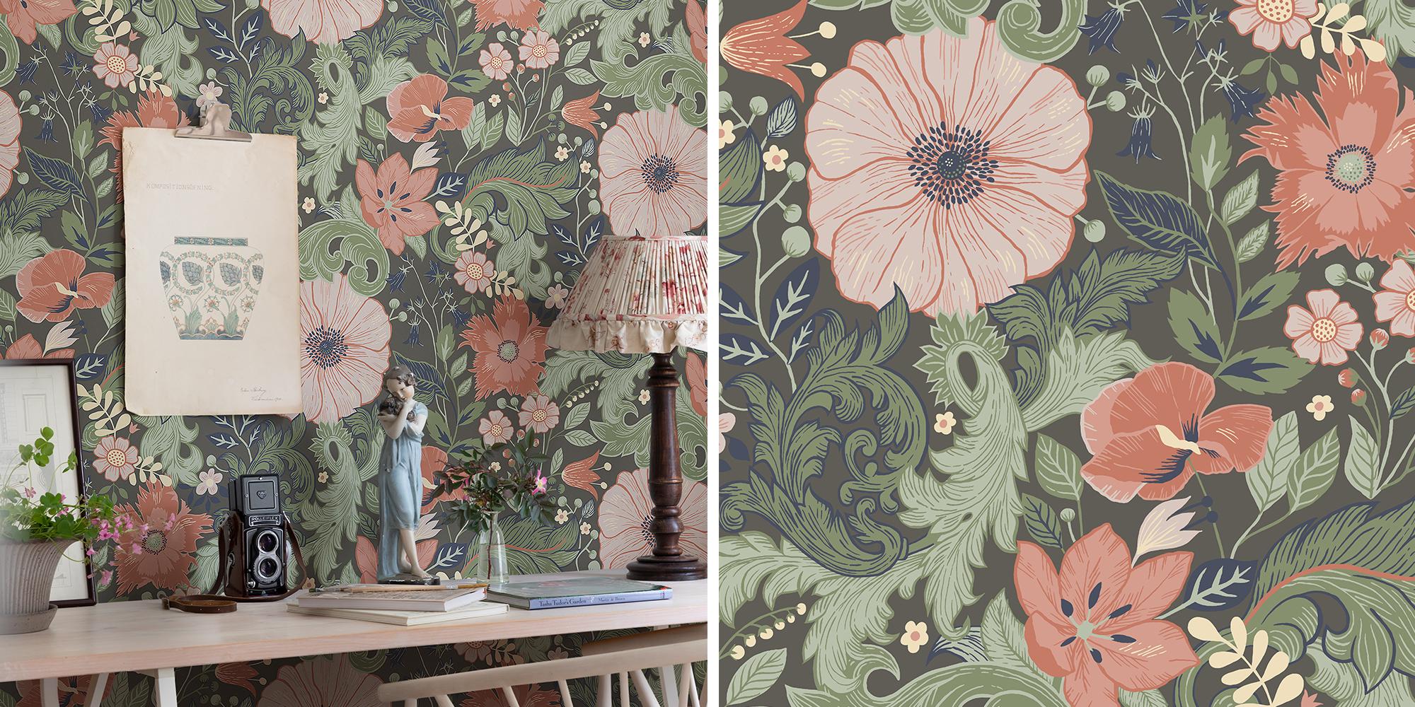 Blomstrande väggar Victoria Ängås